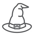 witch hat line icon costume and halloween vector image vector image