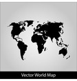 World map on grey background