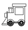 silhouette locomotive toy flat icon vector image