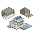 set of modern houses vector image