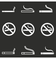 Smoke icon set vector image