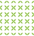 Seamless pattern background of green leafs vector image