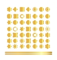 Set of retro vintage gold badges and labels vector image