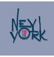Vintage Hand lettered textured New York city t vector image