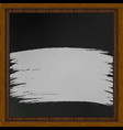 wooden board with black board chalk vector image