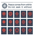 Asian Religious Posters with Buddha Quotes vector image