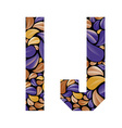 Beautiful floral alphabet letters I and J vector image vector image