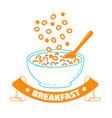 breakfast good morning vector image vector image