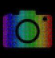 bright dot photo camera icon vector image vector image