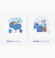 business and finance concept icons money exchange vector image vector image