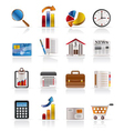 Business and office realistic internet icons vector | Price: 1 Credit (USD $1)