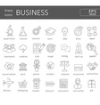 business icons concept vector image vector image