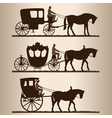 carriages silhouettes vector image vector image