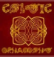 Celtic decorative ornament vector image