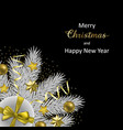 christmas and new year luxury greeting card vector image vector image