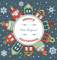 Christmas earth holiday background vector image