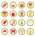 Christmas set cartoon style vector image vector image