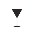 Cocktail glass icon silhouette icon vector image vector image