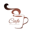coffee logo template vector image vector image