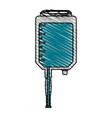 color crayon stripe cartoon medical serum bag vector image vector image