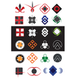 creative symbols design elements collection vector image