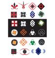 creative symbols design elements collection vector image vector image