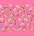 cupcakes pattern pink vector image
