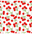cute flower with leaves seamless pattern vector image vector image