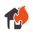 emergency house burnt and dangerous disaster vector image vector image