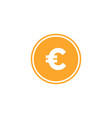 euro currency icon design template isolated vector image vector image