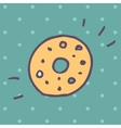 Flat Icon of donut vector image vector image