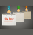 flat style with hand holding paper bag vector image vector image