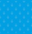 fleur de lis pattern seamless blue vector image