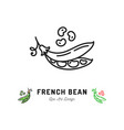french bean icon vegetables logo thin line vector image vector image