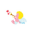 funny cupid boy character isolated icon vector image
