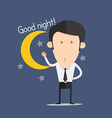 Good night vector image