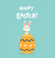 happy easter greeting card with easter eggs and vector image vector image