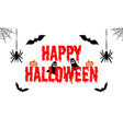 happy halloween text banner greeting card vector image