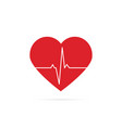 heartbeat line background icon vector image vector image