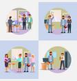 hiring process icon set flat vector image