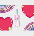 i love you card vector image vector image