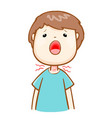 ill man sore throat cartoon vector image vector image