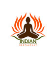 indian restaurant icon food india and asia vector image