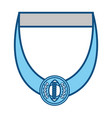 isolated champion medal vector image vector image