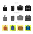 isolated object of suitcase and baggage logo vector image