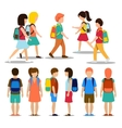Kids going to school vector image vector image