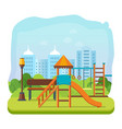 kids playground park of entertainment vector image vector image