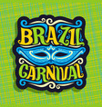 logo for brazil carnival vector image