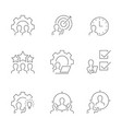 management line icons on white background vector image vector image