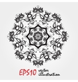 mandala highly detailed zentangle inspired vector image vector image